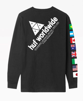 Huf Flag Union Long Sleeve T Shirt Back
