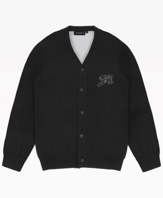 Wasted Cardigan Signature Noir Front