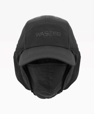Wasted Casquette Trapeur Noir Front