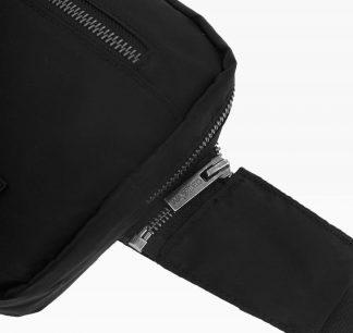 Wasted Chest Bag En Nylon Noir Detail