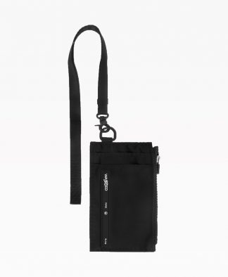 Wasted Neck Wallet Noir Front