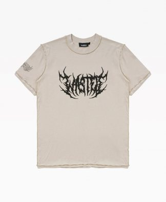 Wasted T Shirt Shadow Delave Sable Front