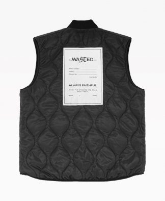 Wasted Vest Mountain Reversible Noir Back