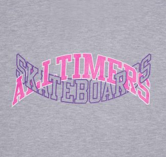 Alltimers Arch Tech Hoody Heather Grey Detail