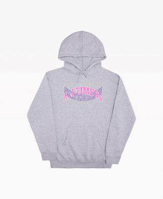 Alltimers Arch Tech Hoody Heather Grey Front