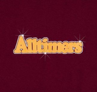 Alltimers Barbay Broadway Logo Tee Burgundy Detail