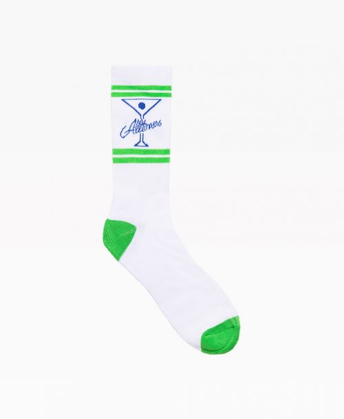 Alltimers Classic Logo Socks White Front