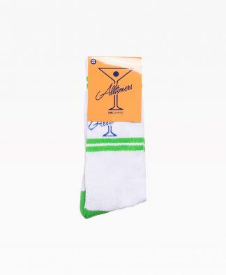 Alltimers Classic Logo Socks White Front2