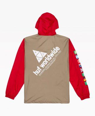 Huf Flags Anorak Jacket Back