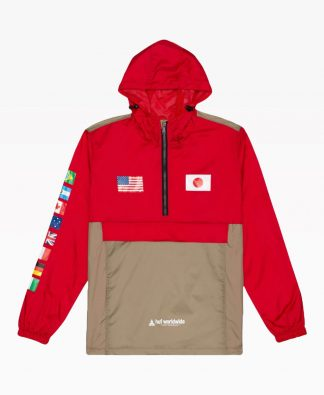 Huf Flags Anorak Jacket Front