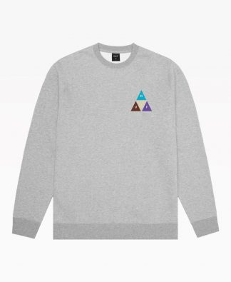 Huf Prism Trail Crewneck Heather Grey Front