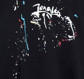 Jungles Logo Paint Splatter Hoodie Detail
