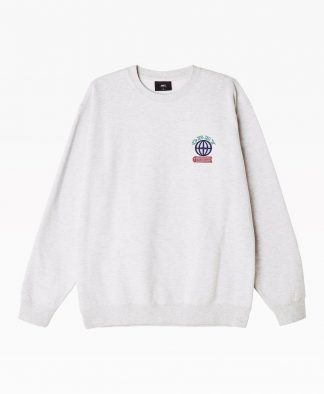 Obey Clothing Knowledge Crewneck Heather Grey Front