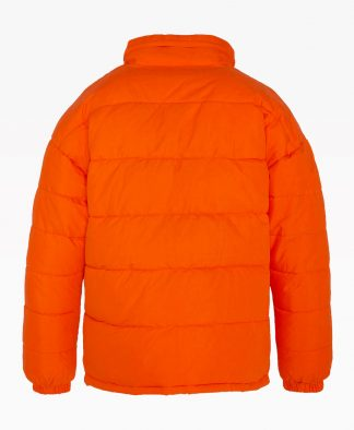 Schott Nebraska Orange Puffer Back