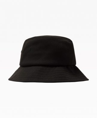 Stussy Big Logo Twill Bucket Hat Black Back