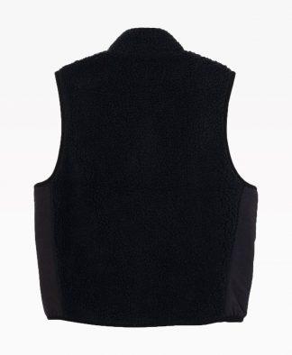 Stussy Block Sherpa Vest Black Back