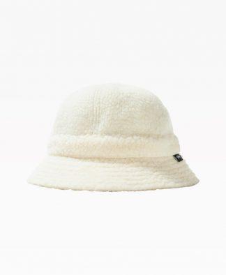 Stussy Sherpa Fleece Bell Bucket Hat White Back