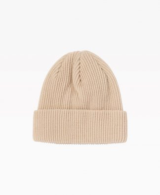 Stussy Small Patch Watchcap Beanie Sand Back