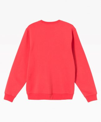 Stussy Smooth Stock Embroidered Crewneck Pale Red Back