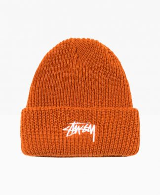 Stussy Stock Cuff Beanie Light Brown Front