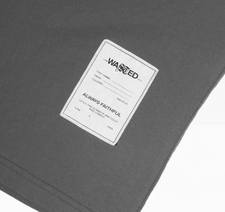 Wasted Essential Tee Heather Grey Detail