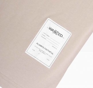 Wasted Essential Tee Sable Detail