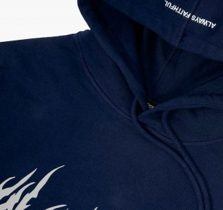 Wasted Futur Hoodie Navy Blue Detail2