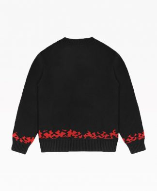 Wasted Sweater Hades Black Back