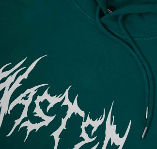 Wasted Futur Hoodie Forest Green Detail2