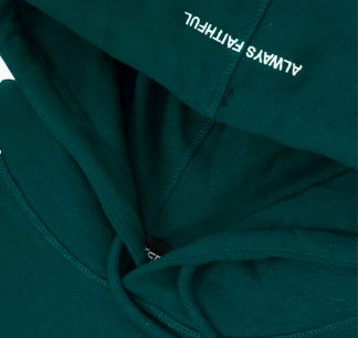 Wasted Futur Hoodie Forest Green Detail3