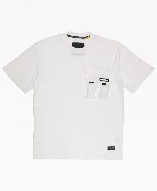 Cat Two Pockets Tee White Front
