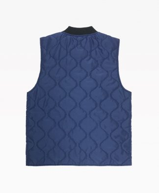 Cat Vest Navy Blue Back