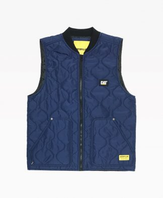 Cat Vest Navy Blue Front