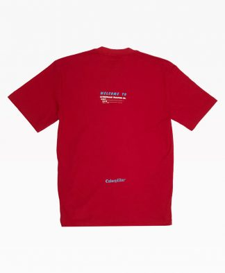 Cat Welcome To Tee Red Back