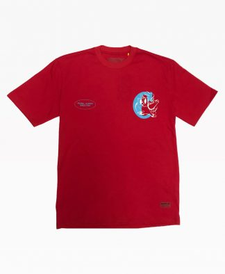 Cat Welcome To Tee Red Front
