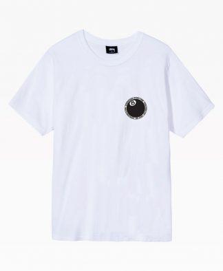Stussy 8 Ball Dot Tee White Front