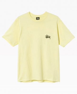 Stussy Basic Logo Tee Pale Yellow Front