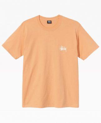 Stussy Basic Logo Tee Peach Front