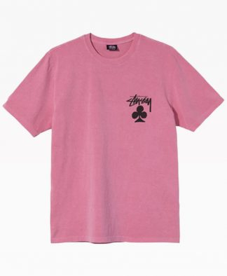 Stussy Club Pigmented Dyed Tee Pink Front