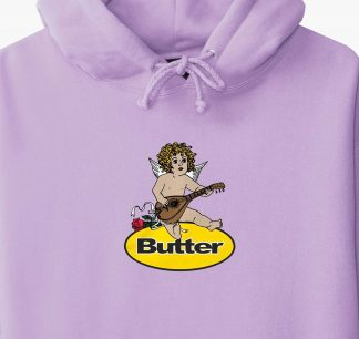 Butter Goods Angel Badge Hoodie Lavander Detail