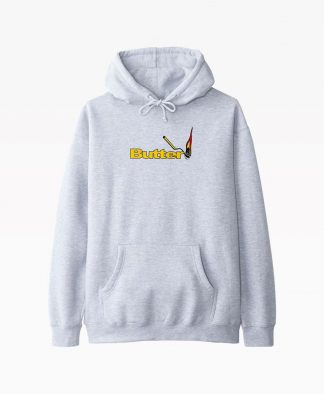 Butter Goods Match Hoodie Heather Grey Front