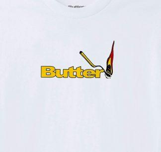 Butter Goods Match Tee White Detail