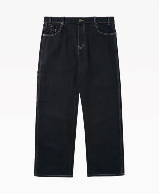 Butter Goods Overdye Denim Pants Black Front