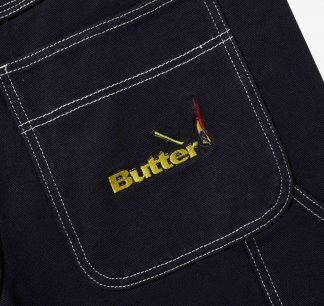 Butter Goods Overdye Denim Work Pants Black Detail2
