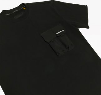 Cat Two Pockets Tee Black Detail