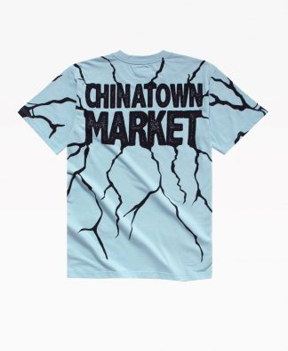 Chinatown Smiley Dry Wall Breaker Tee Blue Back