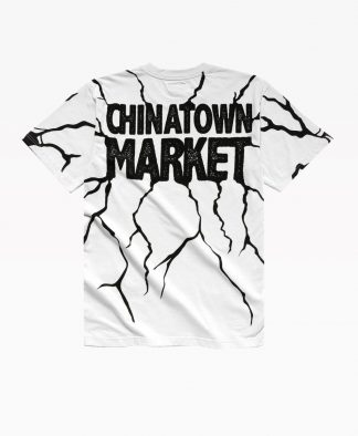 Chinatown Smiley Dry Wall Breaker Tee White Back