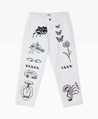 Obey Clothing Hardwork Printed Carpenter Pant Front