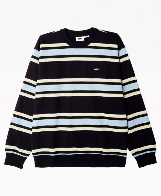 Obey Clothing Jones Crewneck Black Front