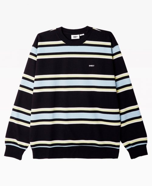 Obey Clothing Jones Crewneck Black Front